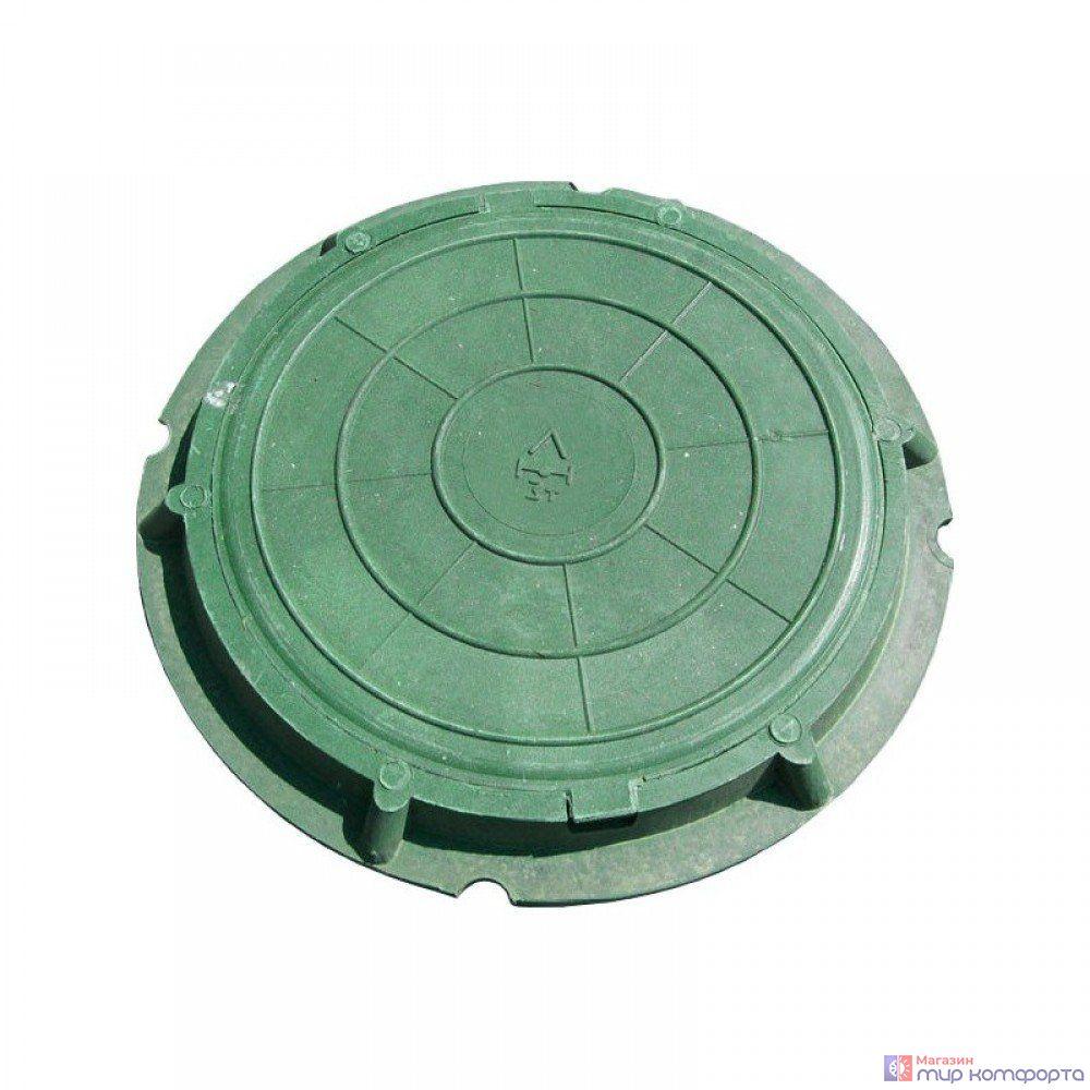Люк полимерный легкий малый, 30 кН Зеленый